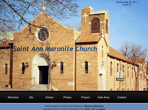 Saint Ann Maronite Church Website.